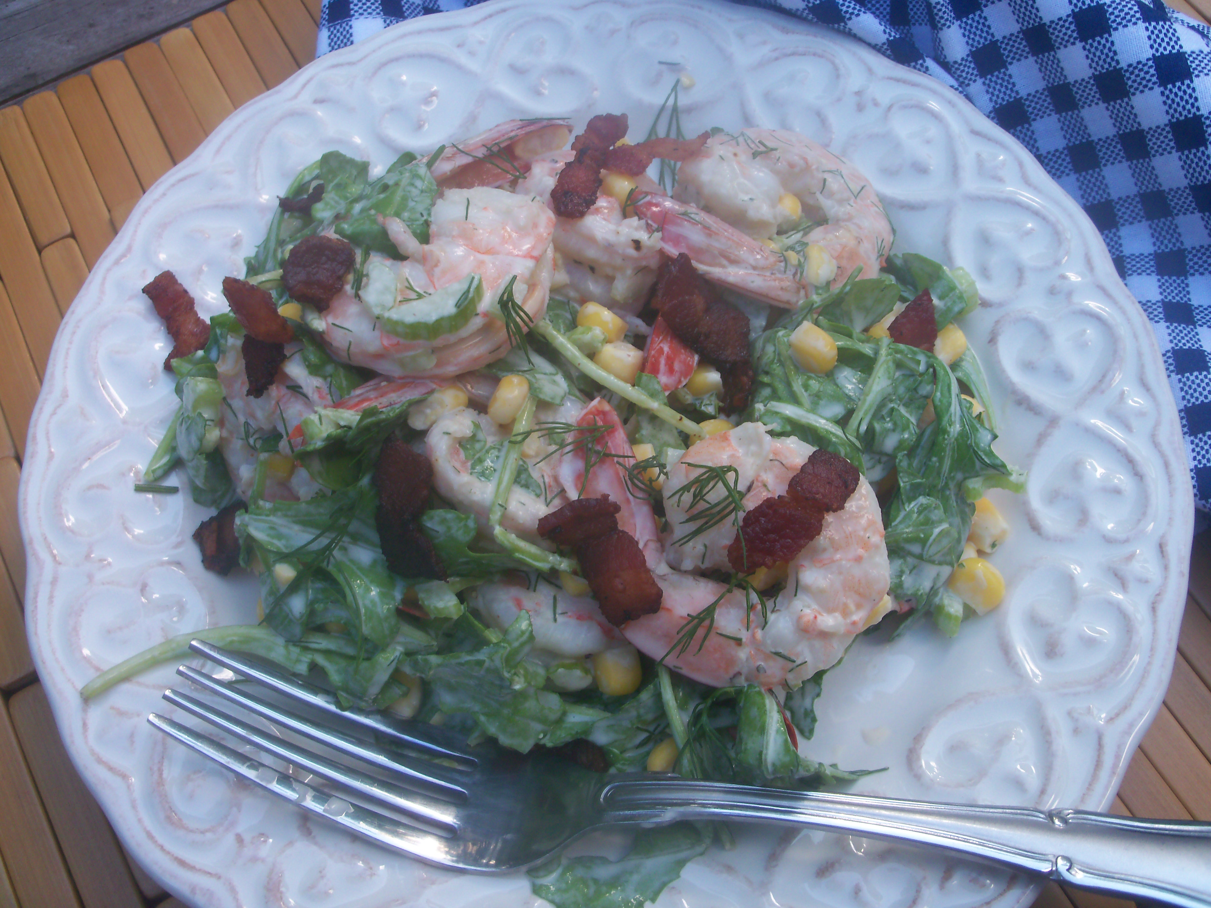 Shrimp and Corn Salad with Creamy Dill Dressing