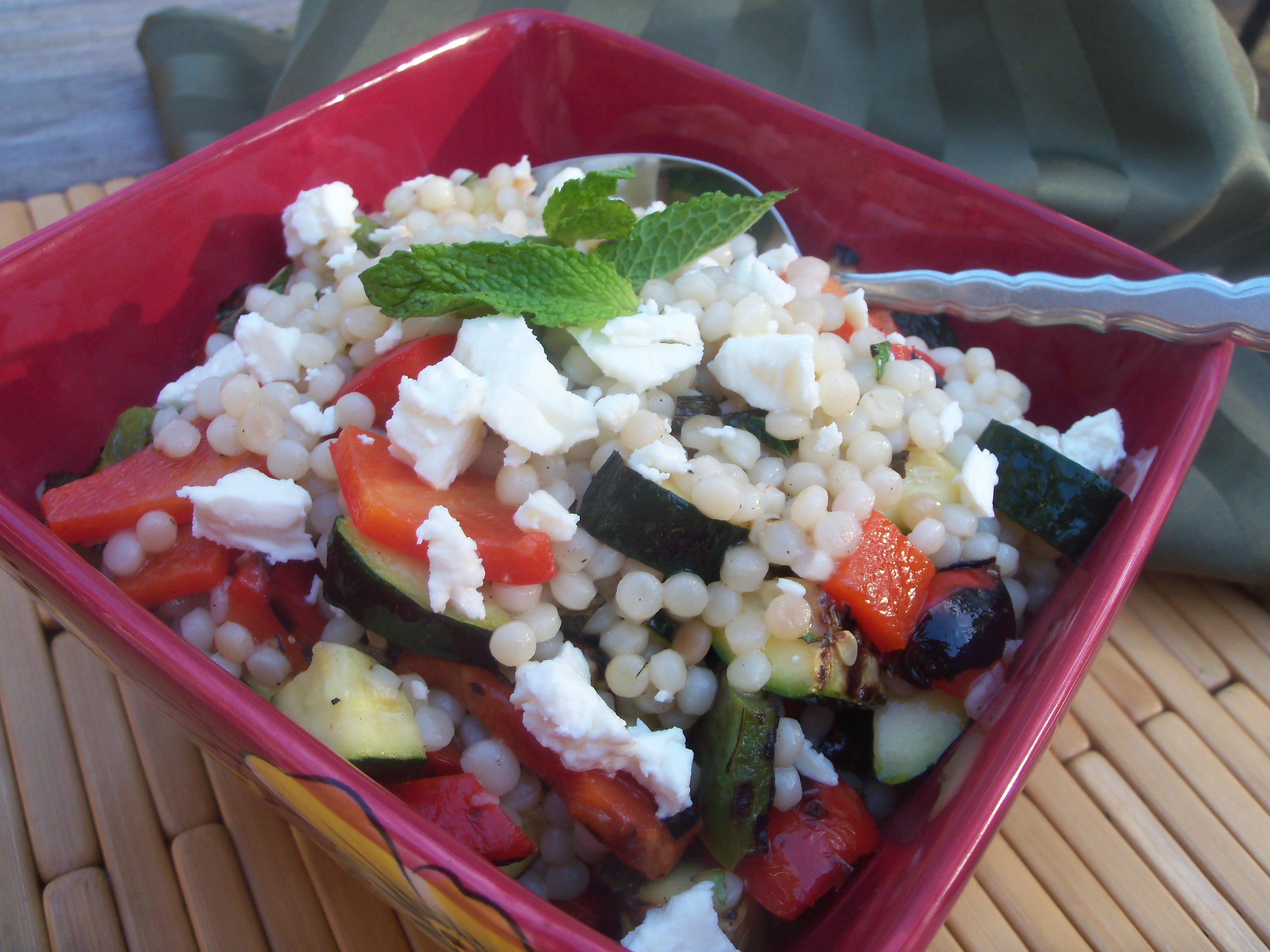 grilled vegetable couscous sald